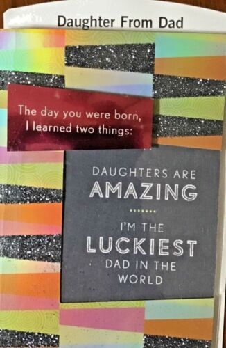 41A DAUGHTER BIRTHDAY CARD  From DAD 5 Great Choices HALLMARK