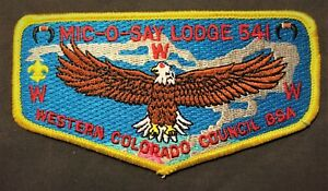 MIC-O-SAY-OA-LODGE-541-BSA-WESTERN-COLORADO-COUNCIL-PATCH-EAGLE-S-13-FLAP-MINT