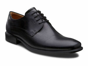 NEW  ECCO Men's 631604 Cairo Perforated Plain Toe Tie Oxford COMFORT SHOES