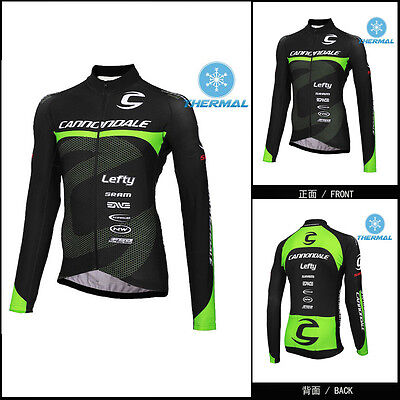 NEW Thermal Fleece men long sleeve cycling jersey cycling top Winter Fit
