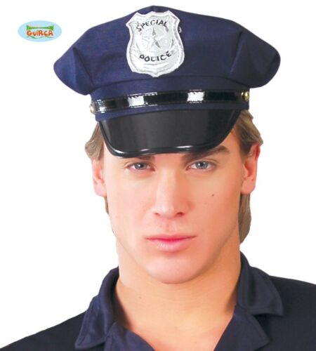 GUIRCA Cappello poliziotto poliziotta polizia carnevale uomo donna mod 13959