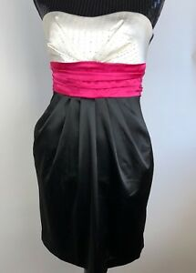 WINDSOR-White-Black-Pink-Dress-Size-5-Homecoming-Dance-Party-Dress