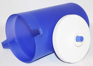 Tupperware Classic 2qt Push Button Pitcher Blue w// Matching Seal New
