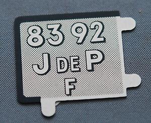 D46 PLAQUE IMMATRICULATIO<wbr/>N POUR VOITURE JEP DELAGE RENAULT 1935 COPIE