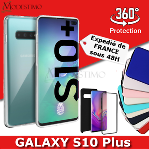 Samsung S10+ S10 Plus Coque de protection Intégrale Avant et Arrière 360°