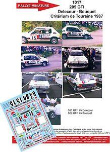DECALS 1//18 REF 0862 PEUGEOT 205 GTI DELECOUR RALLYE MONTE CARLO 1986 RALLY WRC
