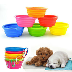 10pcs Wholesale Collapsible Silicone Cat Dog Bowl Water Food Pet Travel Dish
