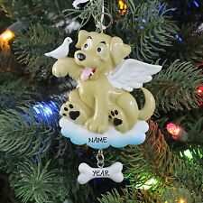 Dog Bone Gone Memories With Wings Personalized Christmas Tree Ornament Gift 2016