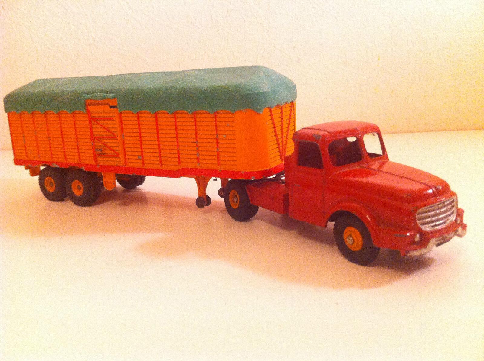 Dinky Toys 36 B Tracteur Willème et Semi-remorque Fruehauf N Mint   Choix Des Matériaux