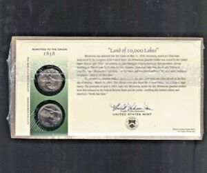 37 cent Stamp-SEALED 2005 Kansas P/&D State Quarter First Day Coin Cover