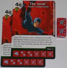 2 x THE ATOM: MATTER COMPRESSION 77 Green Arrow and The Flash Dice Masters