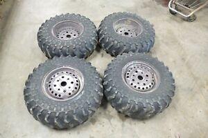 86-Honda-TRX-350-TRX350-Fourtrax-wheels-rims-and-tires-front-rear-set