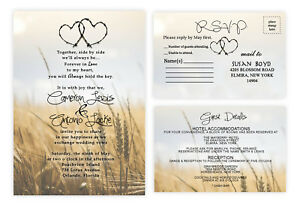 Wedding-Invitations-or-Bridal-Shower-Country-Western-Theme-Rustic-Invites-Qty-50