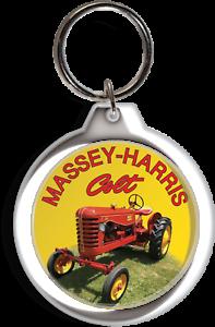 MASSEY FERGUSON TRACTOR FARM GARDEN LAWN COLLECTABLE KEYCHAIN KEY RING CHAIN FOB