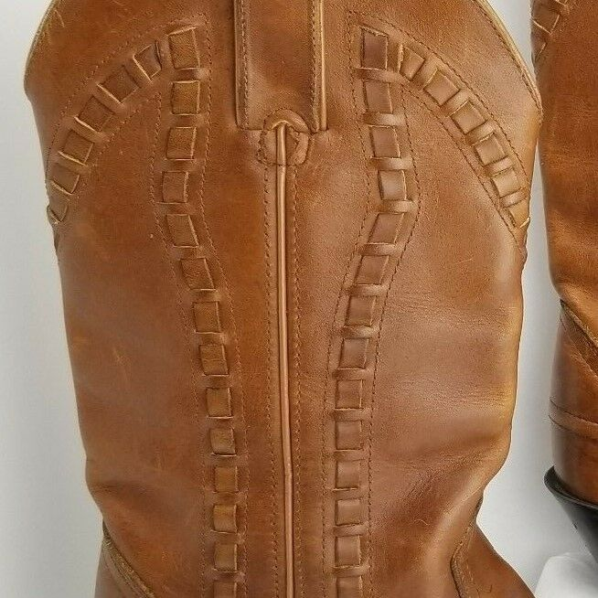 Durango Leather Leather Leather Western Boots Women Size 6.5 Brown Woven Square Toe Oil Resistan 92adcc