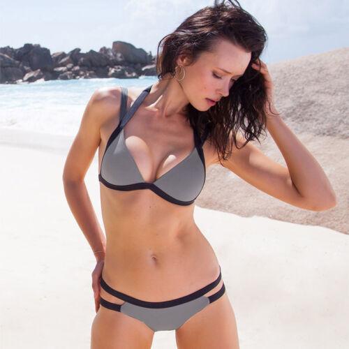 Damen Push Up Bikini Set Gepolstert BH Strandkleidung Bademode Strand Badeanzug