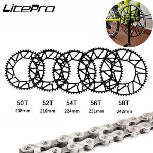 Litepro Folding Bike Chainring BCD130mm 5 Bolts Narrow-Wide Chainweel 46-58T
