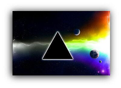 A0 A1 A2 A3 A4 Sizes Pink Floyd Logo Framed CANVAS PRINT