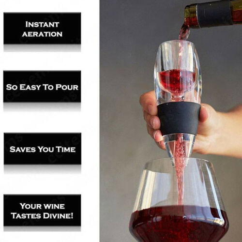 Fast Red Wine Aerator Filter Set Magic Decanter Essential Wine Aerator  Portable
