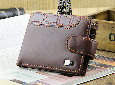 Fashion Men's Leather Bifold Wallet ID Card Holder Handbag Billfold Coin Purse