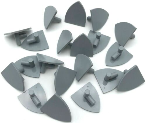 Lego 20 New Light Bluish Gray Minifigure Shield Triangular Pieces