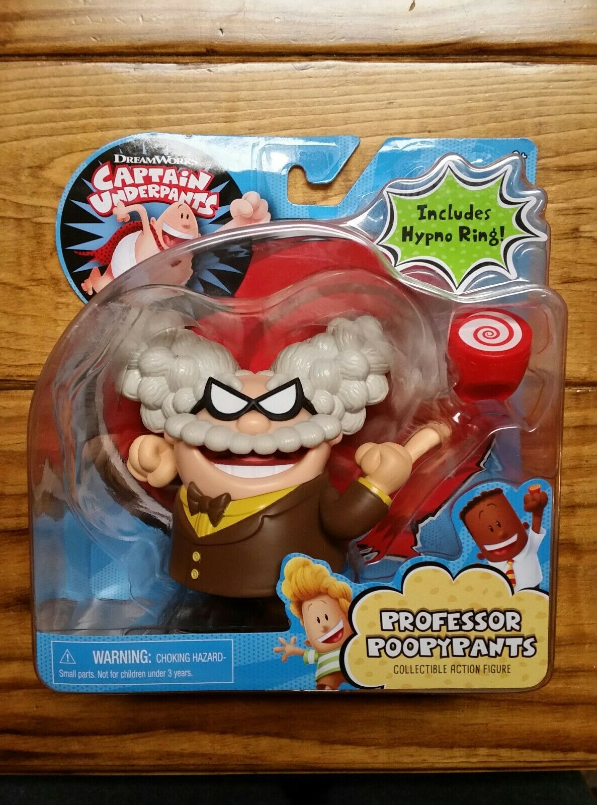 Just Play Captain Underpants Professor Poopypants Figure New Sealed Hypno 2017