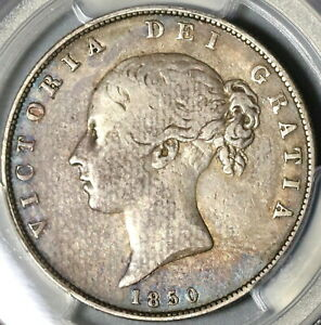 1850-PCGS-VF-25-Victoria-1-2-Crown-Great-Britain-Silver-Coin-20053002C