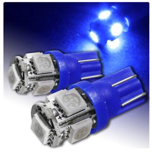 2X Lampe LED 5 SMD Lumière Bleu T10 Xenon Ampoule Voiture 12V W5W 5050 Feux Moto