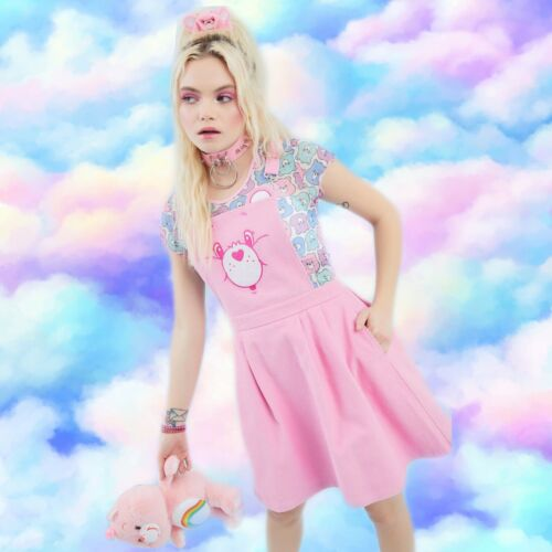 Dolls Kill X Care Bears Pink Baby Care-A-Lot Pinaf