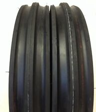 Two Deestone 400x12 400-12 4.00-12 Front 3 Rib Tractor Tires With Tubes