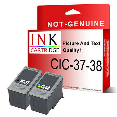 2 Ink Cartridge for Pixma MP140 MP190 MP210 MP220 MP470 MX300 Replace PG37 CL38