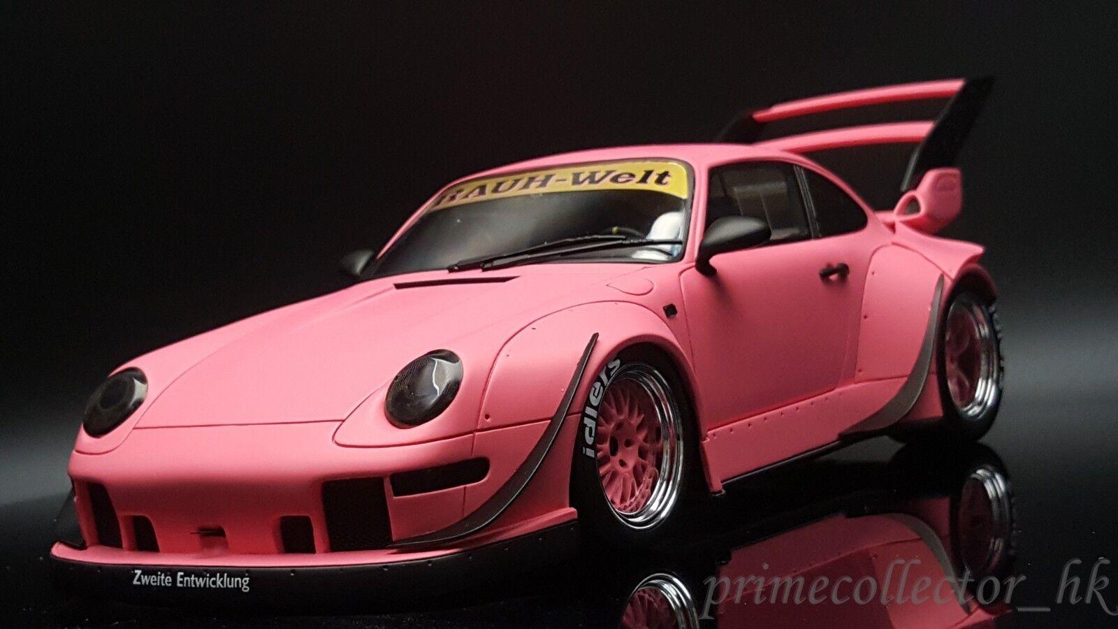 GT Spirit 1/18 Porsche 911 993 RWB Rotana 'Asia exclusivo' Mate Rosa KJ020