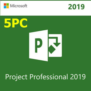 5PC-MICROSOFT-PROJECT-PROFESSIONAL-2019-Genuine-License