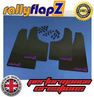 Made in the UK Full Set of 4 Mudflaps Including all Fixings//Hardware Required /& Full Fitting Instructions! Mud Guard//Mud Flaps Kit 4mm Thick Flexible PVC Black Genuine rallyflapZ