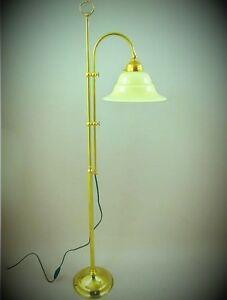 Stehlampe Designer Leuchte Lampe Messing Brun Mit Schirm H 130cm