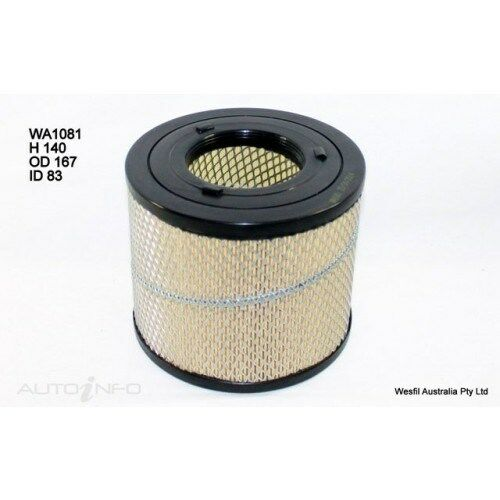 Wesfil Air Filter fits Holden Rodeo 3.0L TD 2002 01/02- 2003 WA1081 A1504