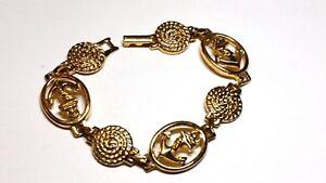 Gold-Tone-Anchor-Link-and-Swirled-Vintage-Bracelet