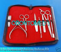 8 Pcs Professional Manicure Pedicure Tools Set Kit
