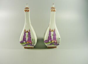 DRESDEN, CARL THIEME, PAIR OF CHINESE ORIENTAL DECOR VASES, HANDPAINTED ! (B020)