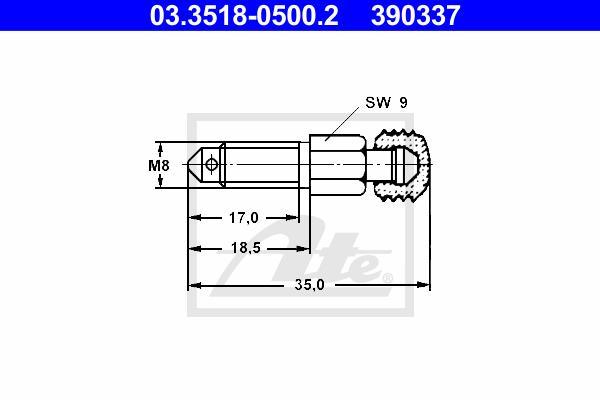 Entlüfterschraube/-ventil - ATE 03.3518-0500.2