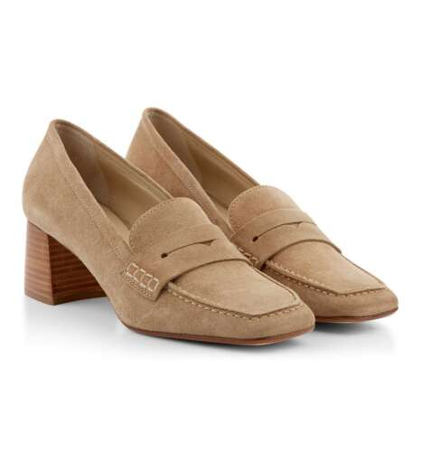 Various Sizes Hobbs Harriet Sand Suede Court Loafers RRP £159.