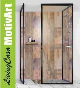 Details Zu Duschruckwand Ruckwand Dusche Alu Design Holz Alphabet Wood Fein Dw204
