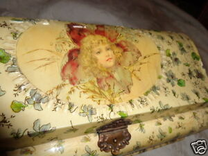 ANTIQUE-VICTORIAN-MAUD-HUMPHREY-GIRL-POPPING-FROM-VIOLET-CELLULOID-DRESSER-BOX