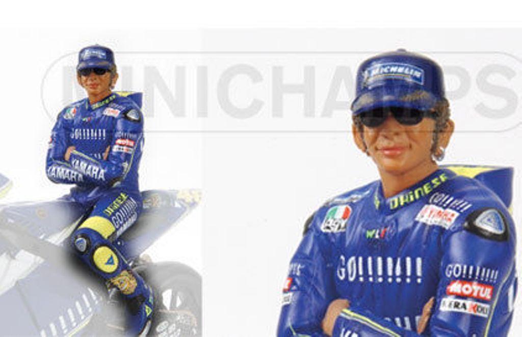 MINICHAMPS 312 059046 V ROSSI Figure MotoGP World Champion 2005 1 12th scale