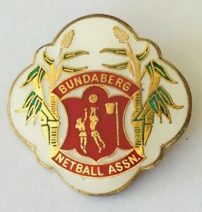 Bundaberg-Netball-Association-Queensland-Australia-Club-Pin-Badge-Vintage-F12