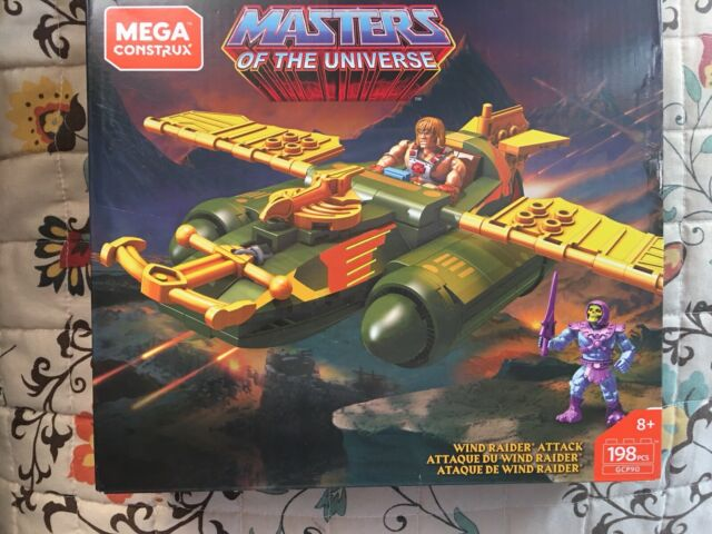 Mega Construx Heroes Masters of the Universe WIND RAIDER ATTACK HE MAN SKELETOR