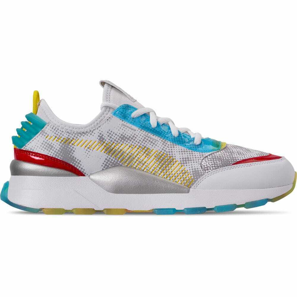 Men's Puma RS-0 Optic Filter Casual White Aguarius Vibrant Yellow 36841301 MUL