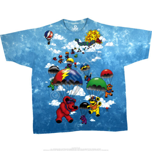Grateful Dead Parachuting Bears S XL 2XL Tie Dye T-Shirt M L