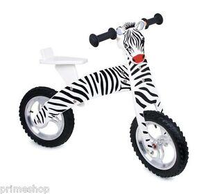 Super-Balance-Bike-Zebra-Wood-Children-039-s-Walking-Bike-NIP