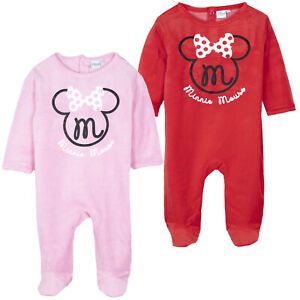626db3fa23260 ... Disney-Minnie-Mouse-Bebe-Bebes-Filles-Velours-Grenouillere-